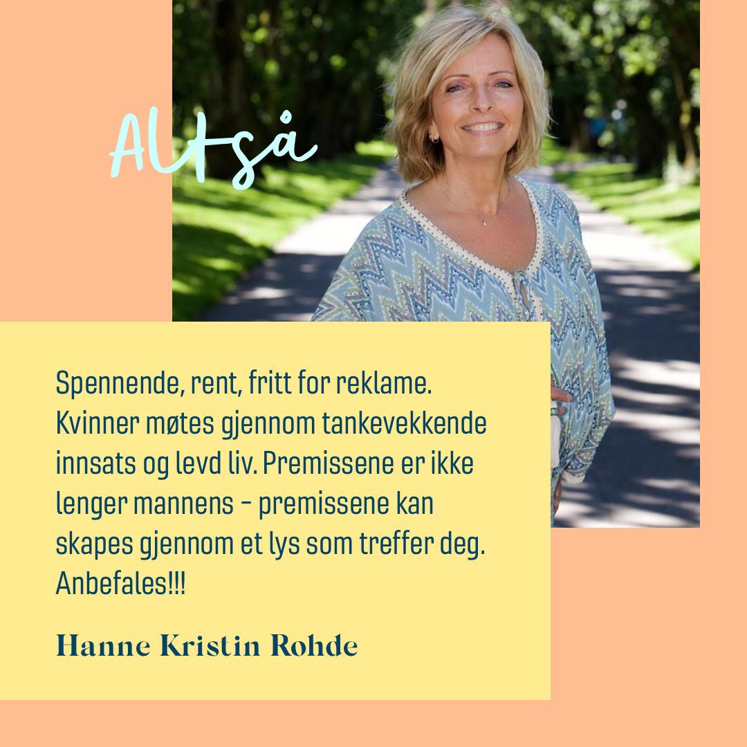 Hanne Kristin Rohde sitat