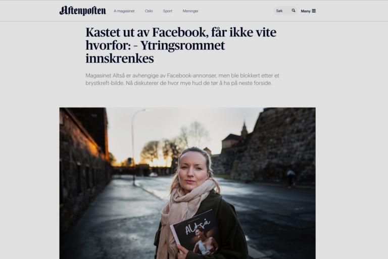 Aftenposten: Kastet ut av Facebook, får ikke vite hvorfor: – Ytringsrommet innskrenkes