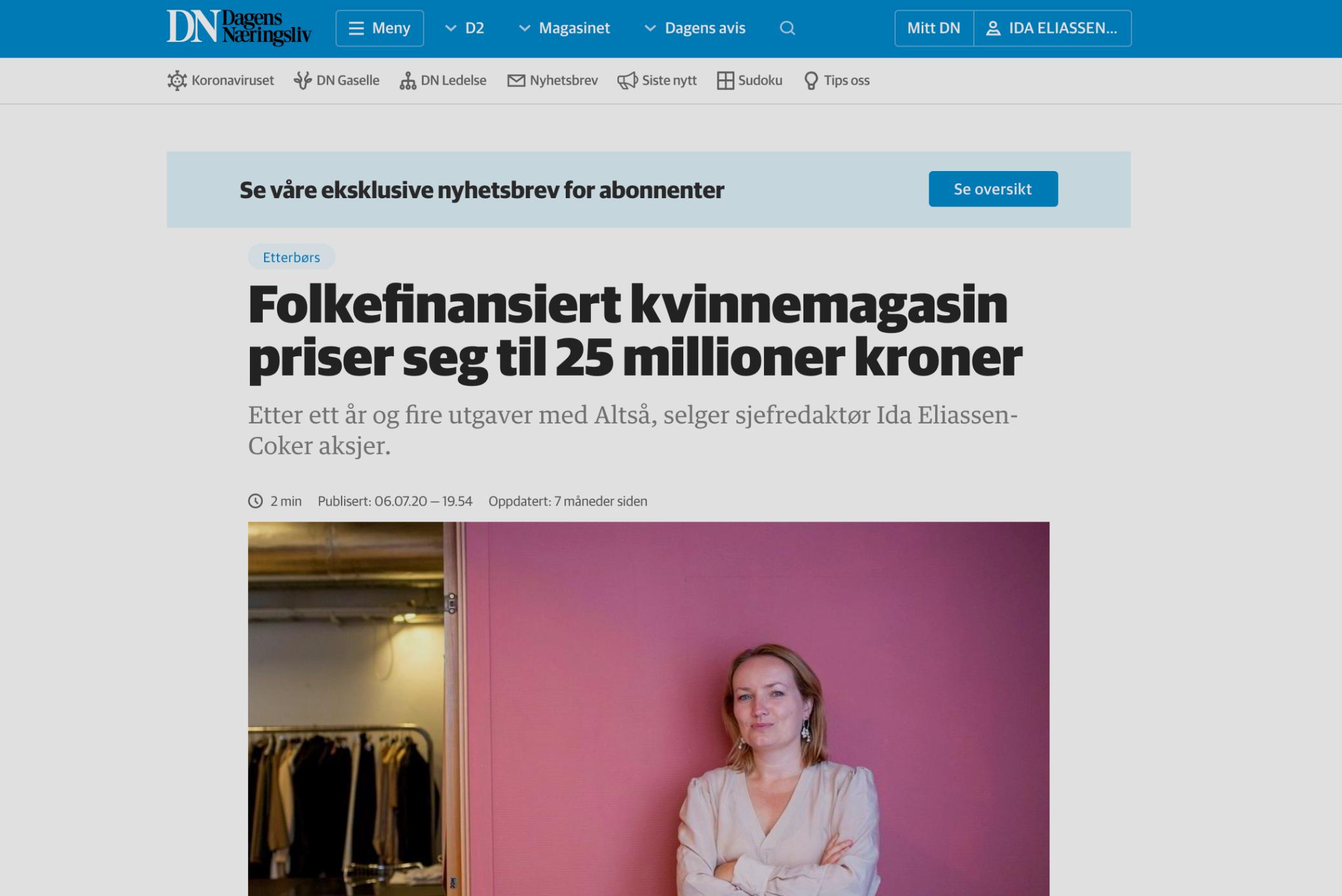 DN: Folkefinansiert kvinnemagasin priser seg til 25M