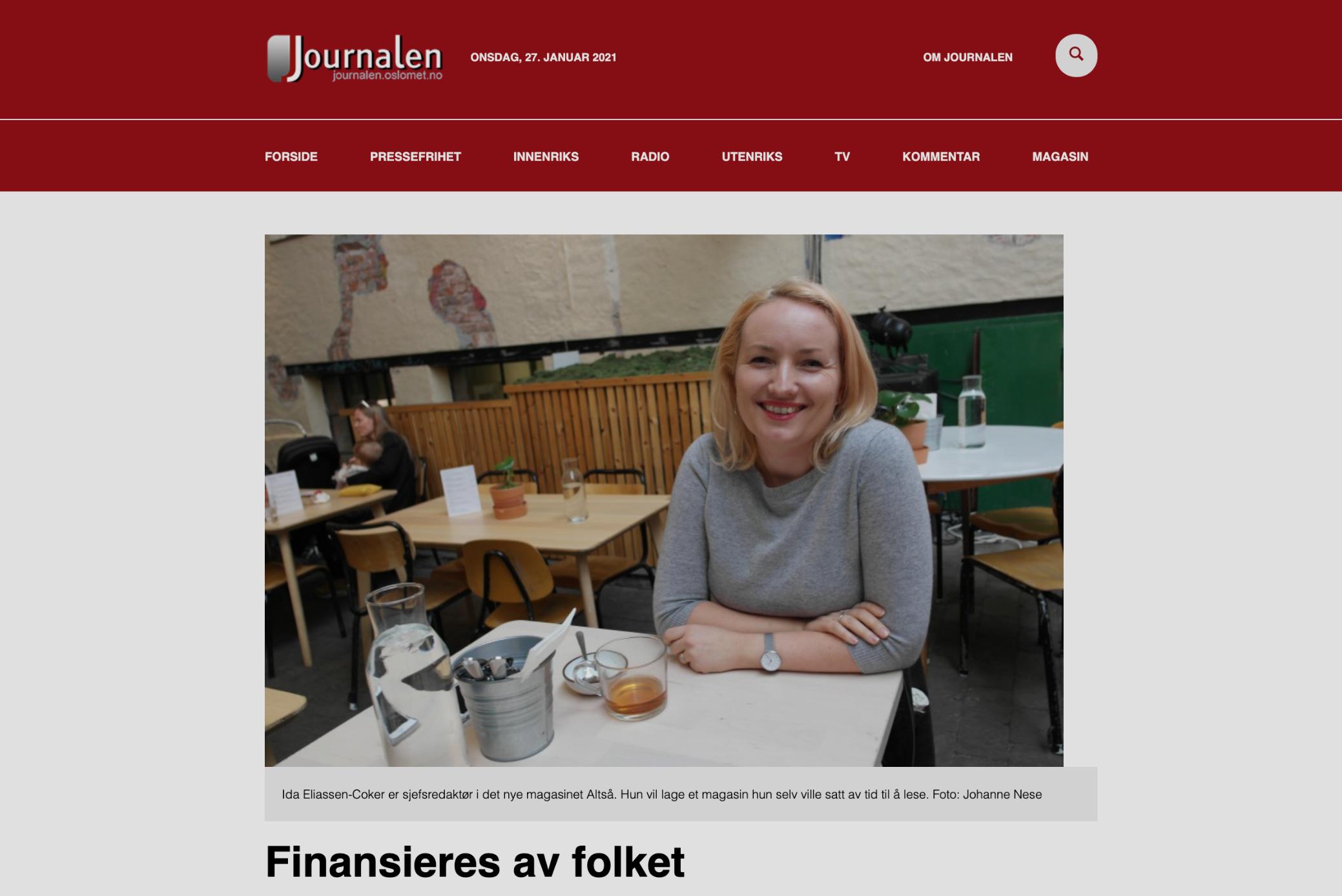 Journalen: Finansieres av folket