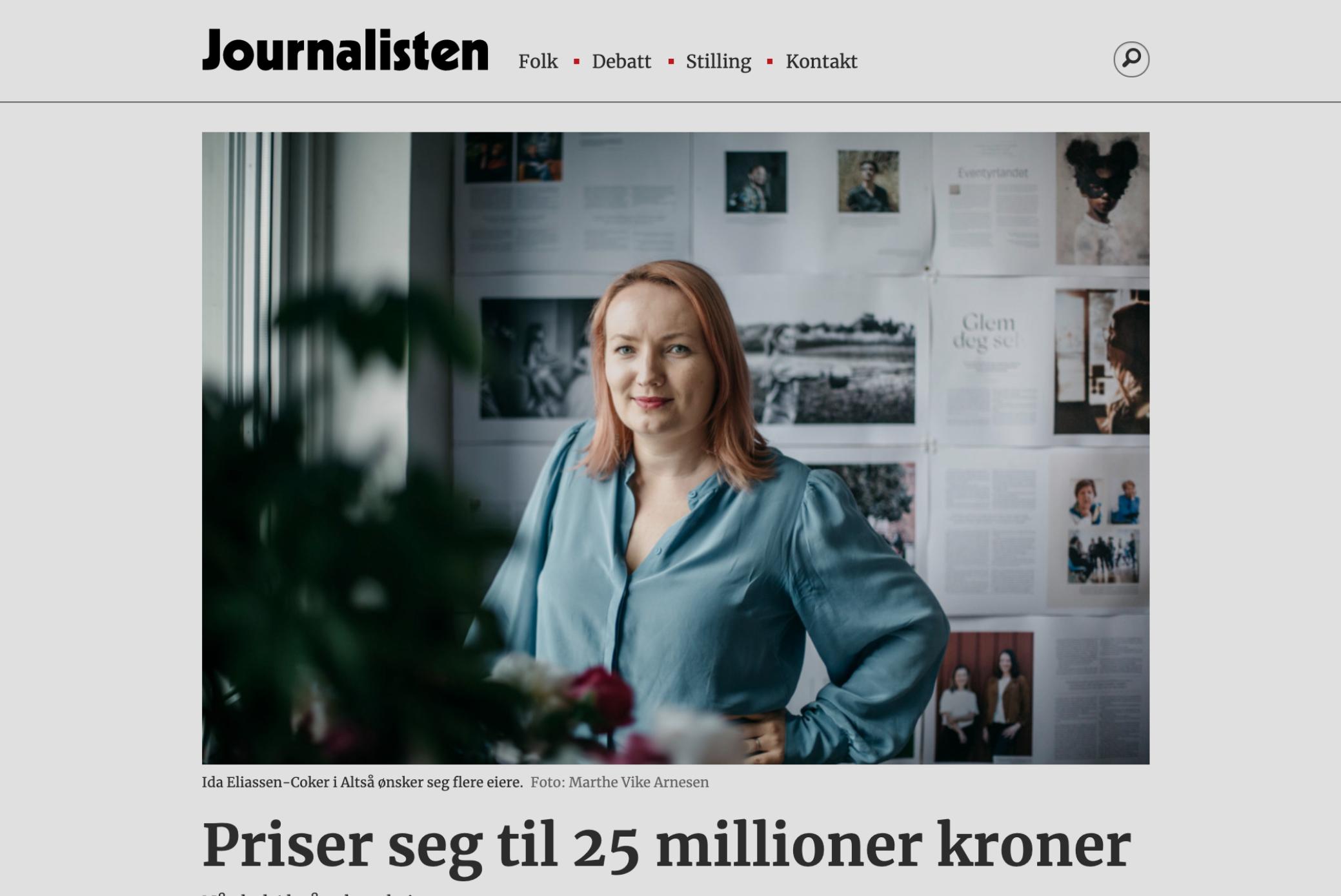 Journalisten: Priser seg til 25M