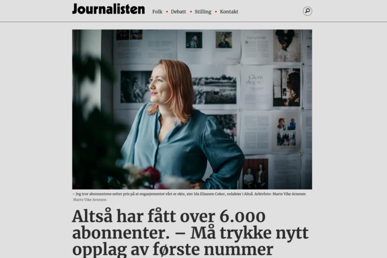 Journalisten: ALTSÅ må trykke nytt opplag av første nummer
