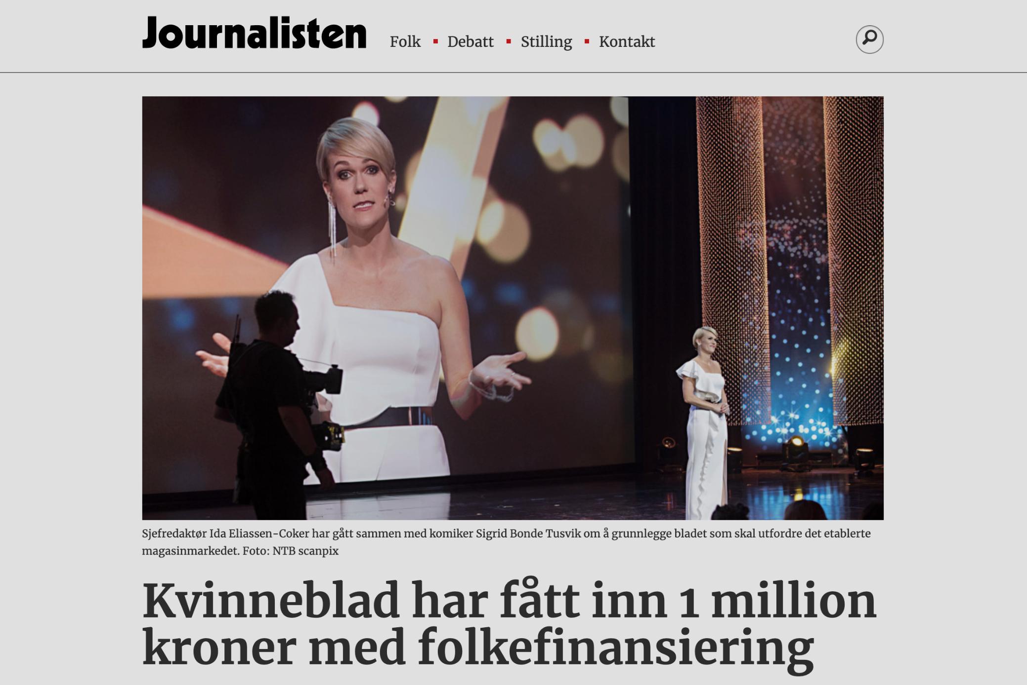 Journalisten: Kvinneblad har fått inn 1M med folkefinansiering