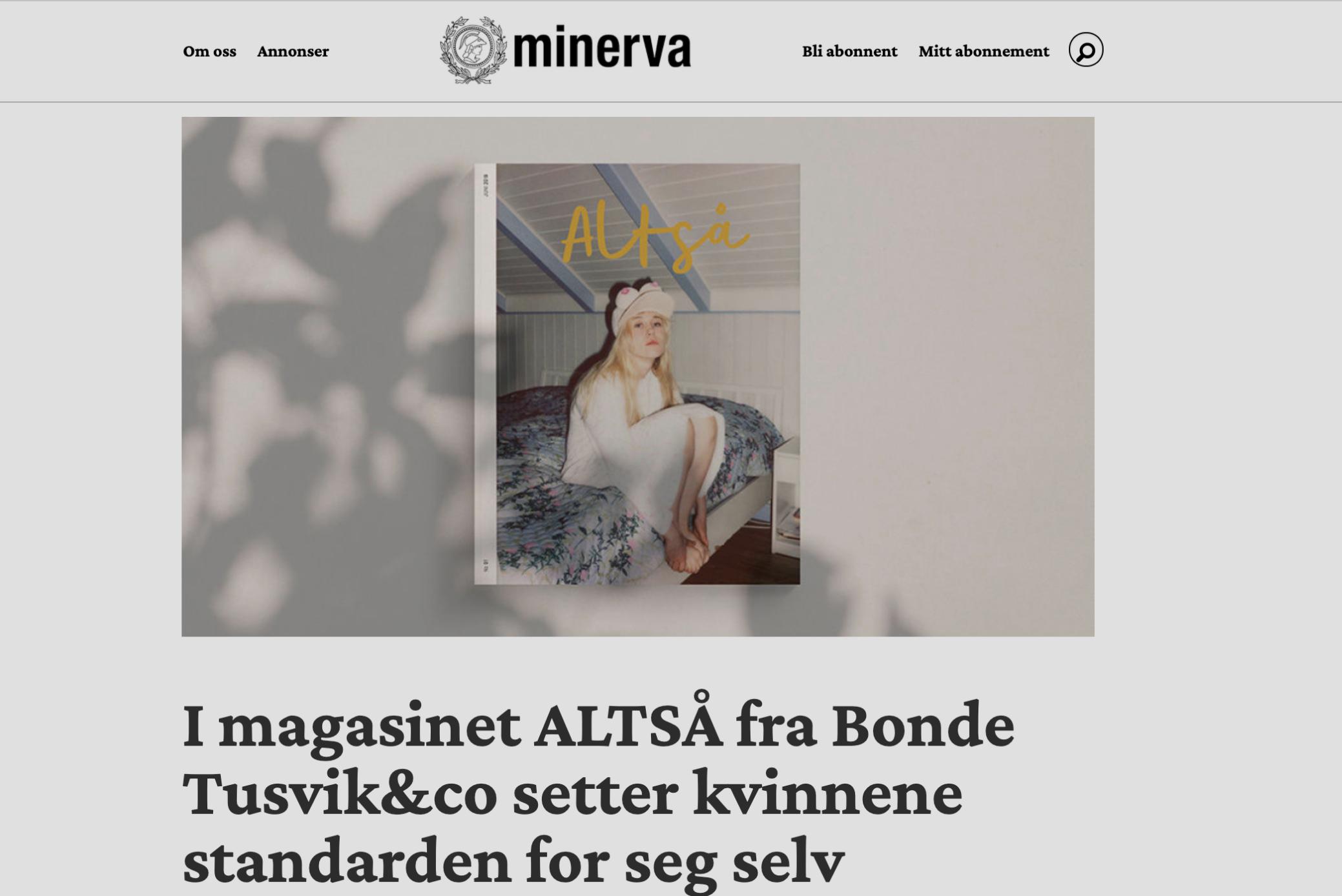 Minerva: I ALTSÅ setter kvinnene standarden for seg selv