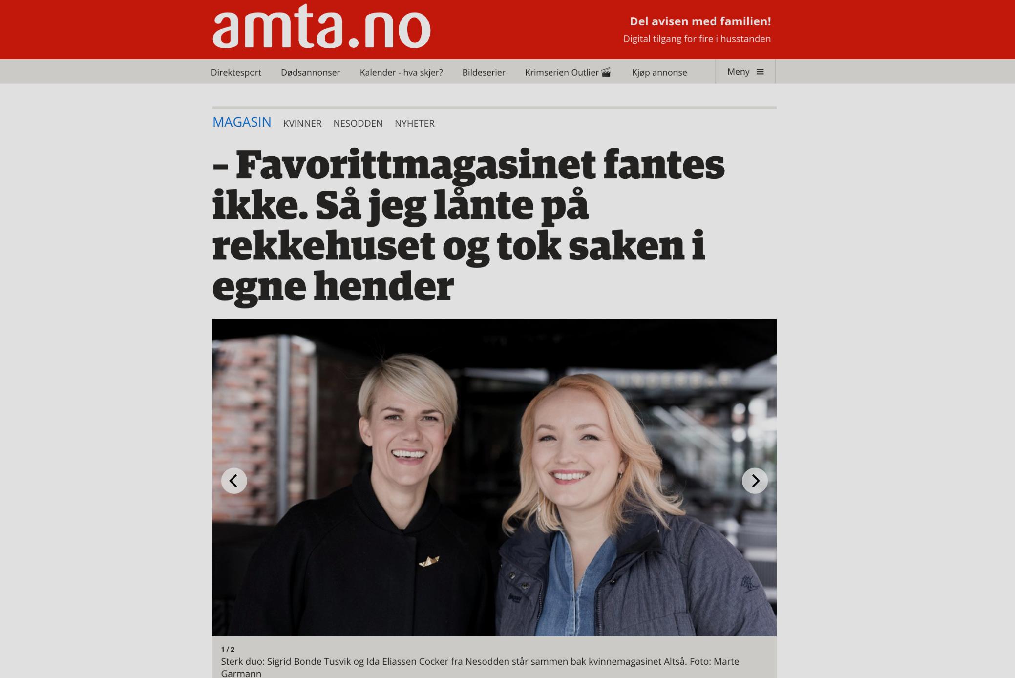 Amta: favorittmagasinet fantes ikke