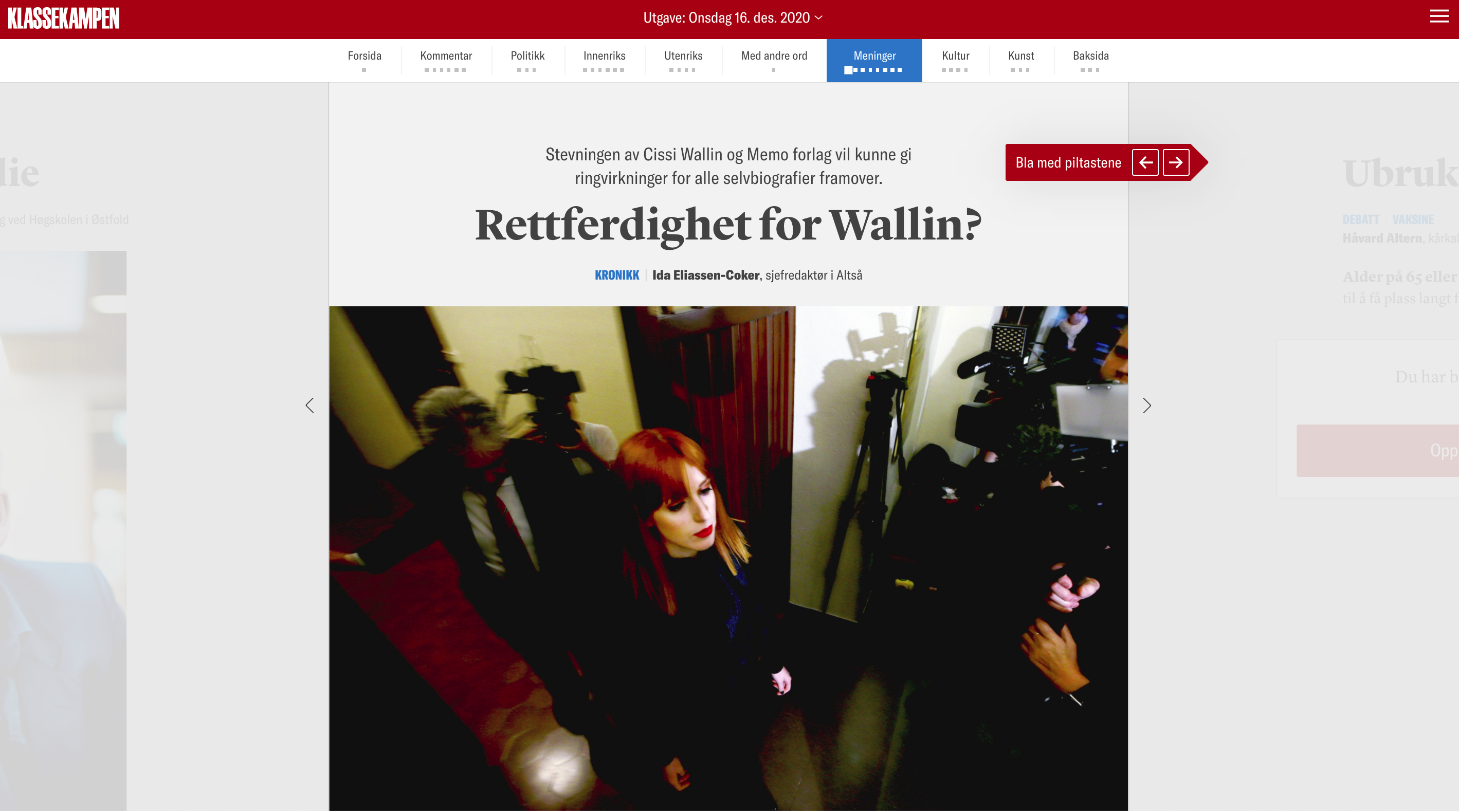 KK: Rettferdighet for Wallin?