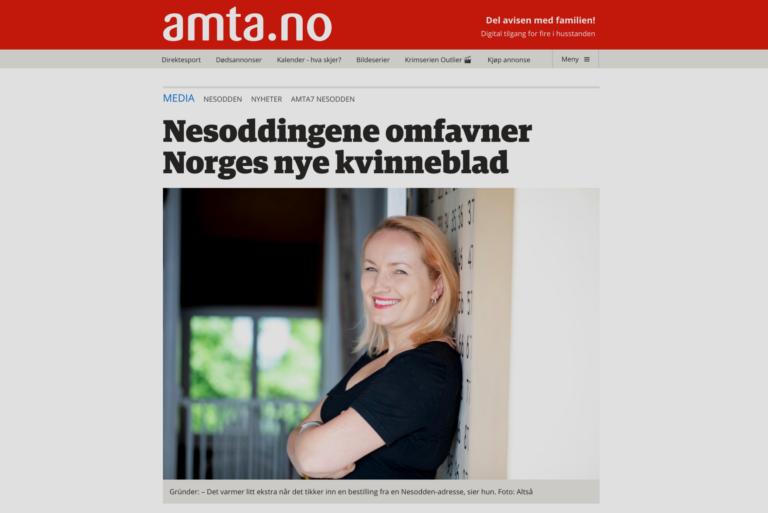 Amta: Nesoddingene omfavner Norges nye kvinneblad
